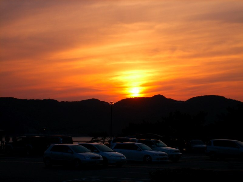 徳島での夕焼け