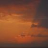 日没直後の空