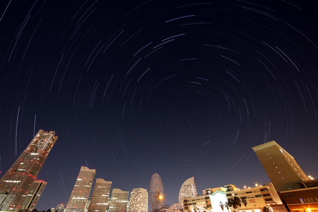 Star sky of みなとみらい