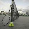 冬の空とテニス