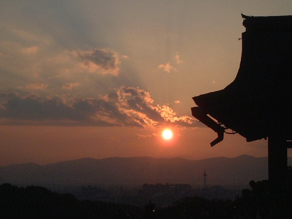 清水寺の夕焼け