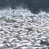 〈雪の城下町〉