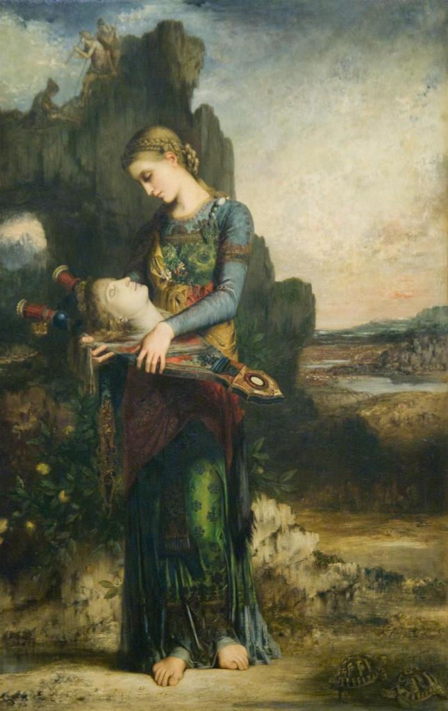 オルフェウスの首を運ぶトラキアの娘 / モロー