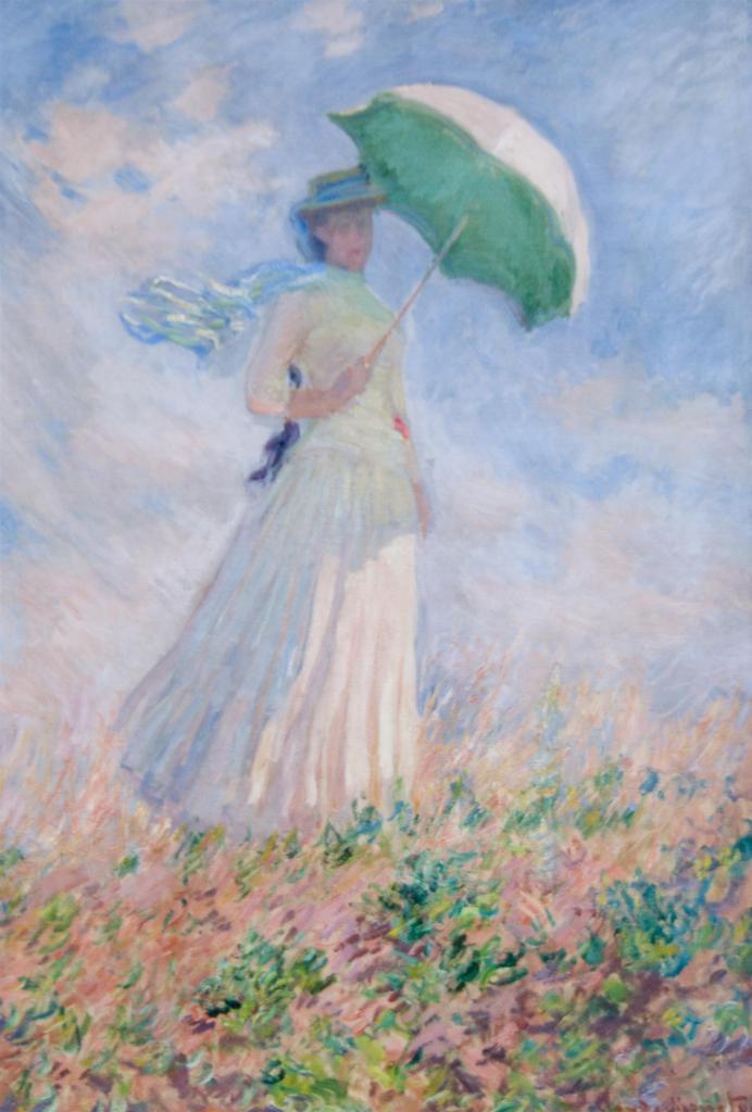 左向きの日傘の女性 / モネ