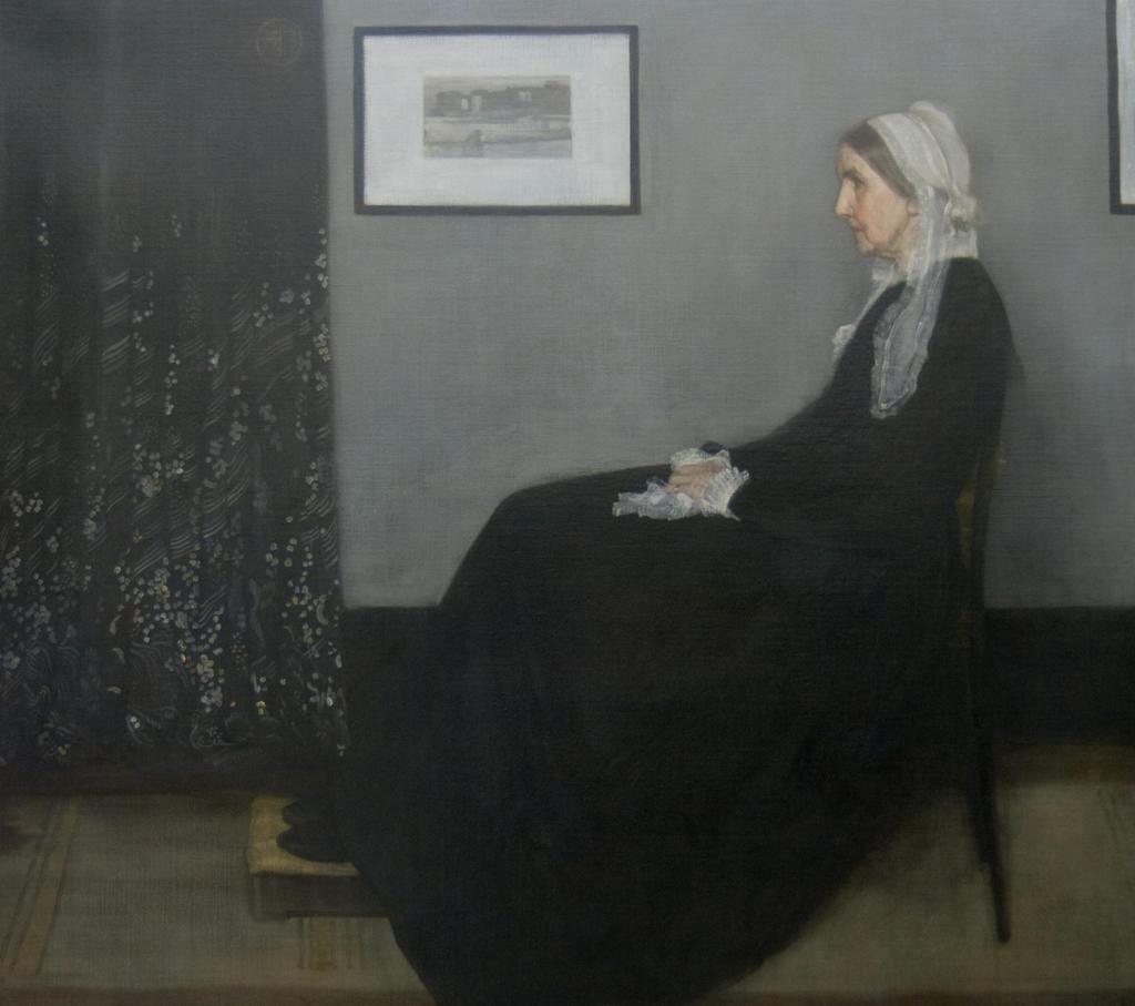 灰色と黒のアレンジ、画家の母親の肖像 / ホイッスラー