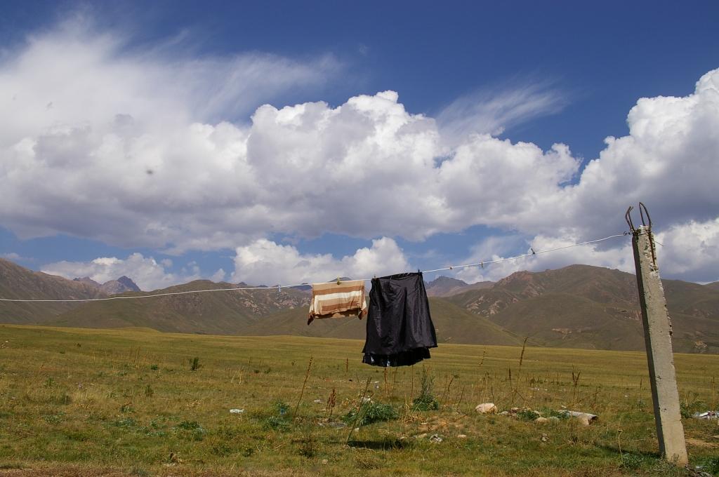 キルギス 洗濯物