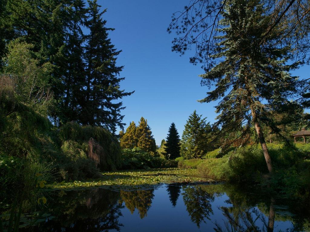 VanDusen植物園にて