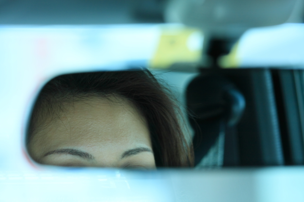 A rearview mirror