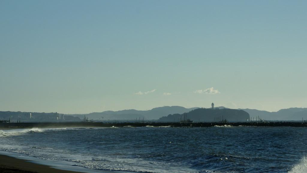 茅ヶ崎からの江ノ島