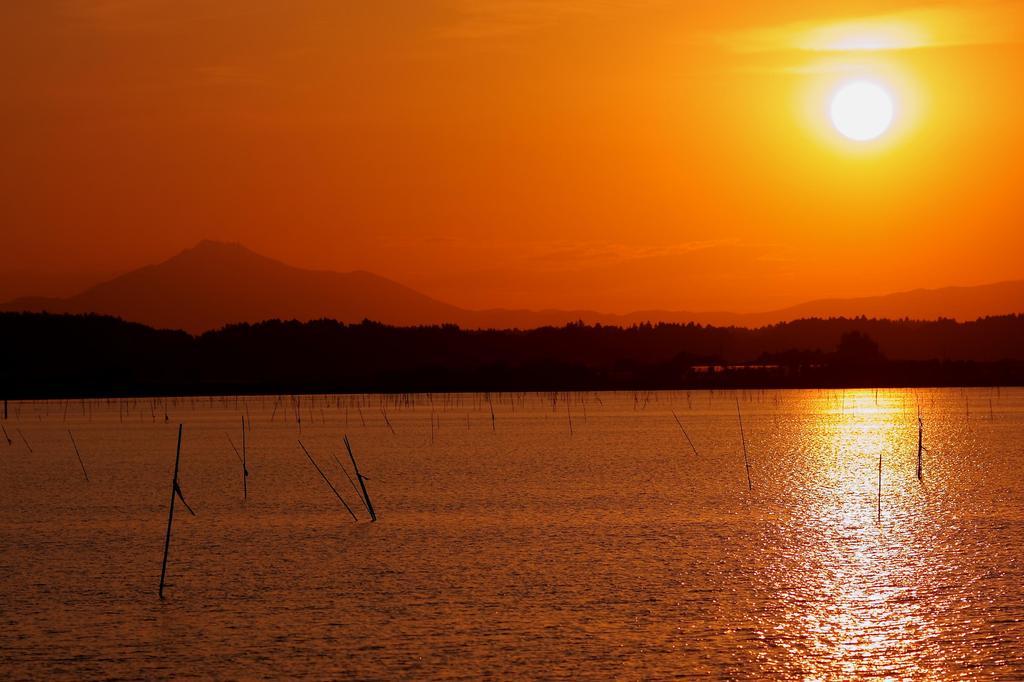 9 筑波に沈む夕日