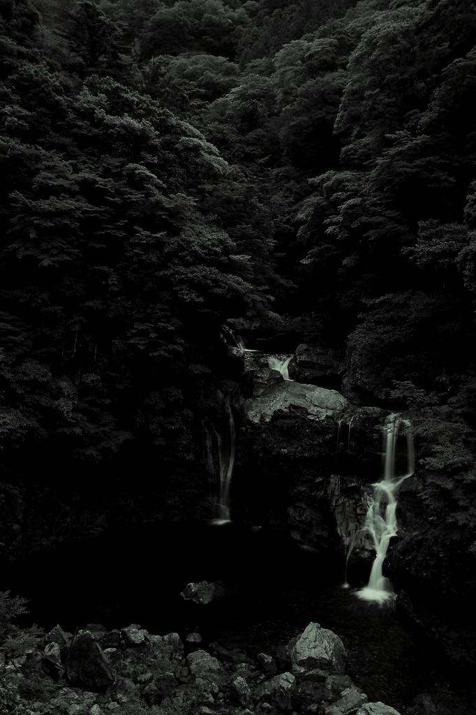 山の静寂を打つ