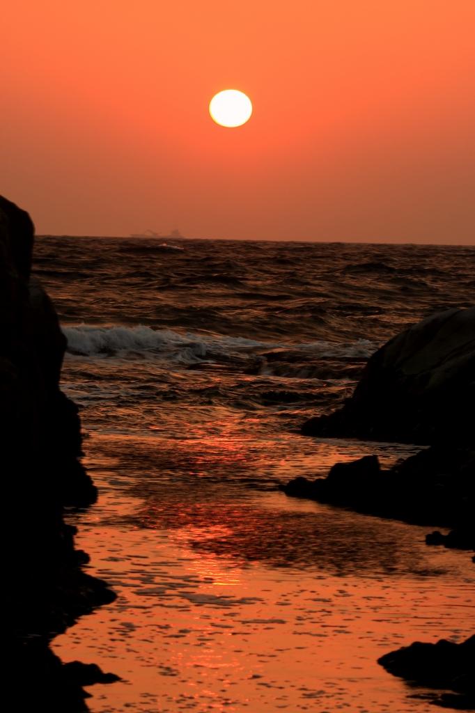 沈むゆく夕日 1