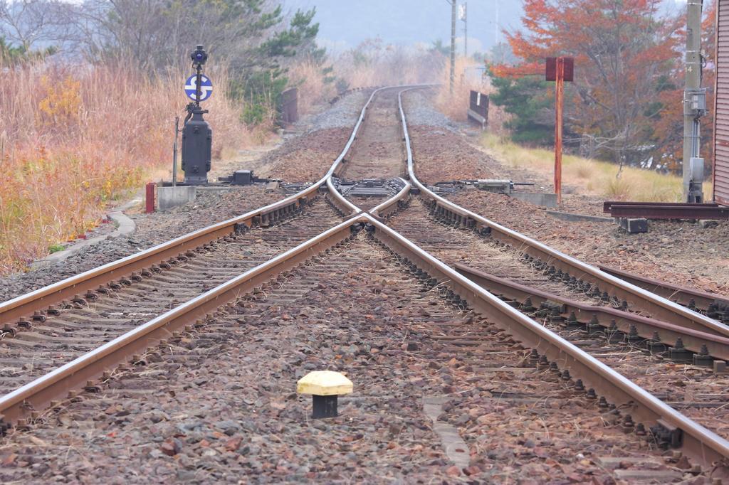 交差する線路