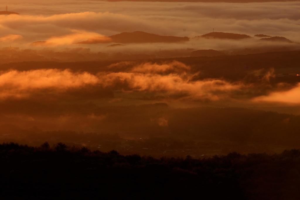 雲海たなびく