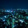 渋谷・新宿・夜・輝く