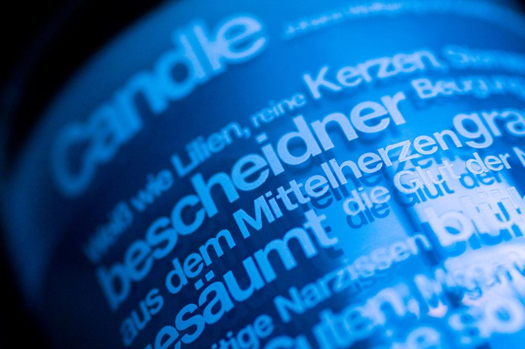 青いデザイン