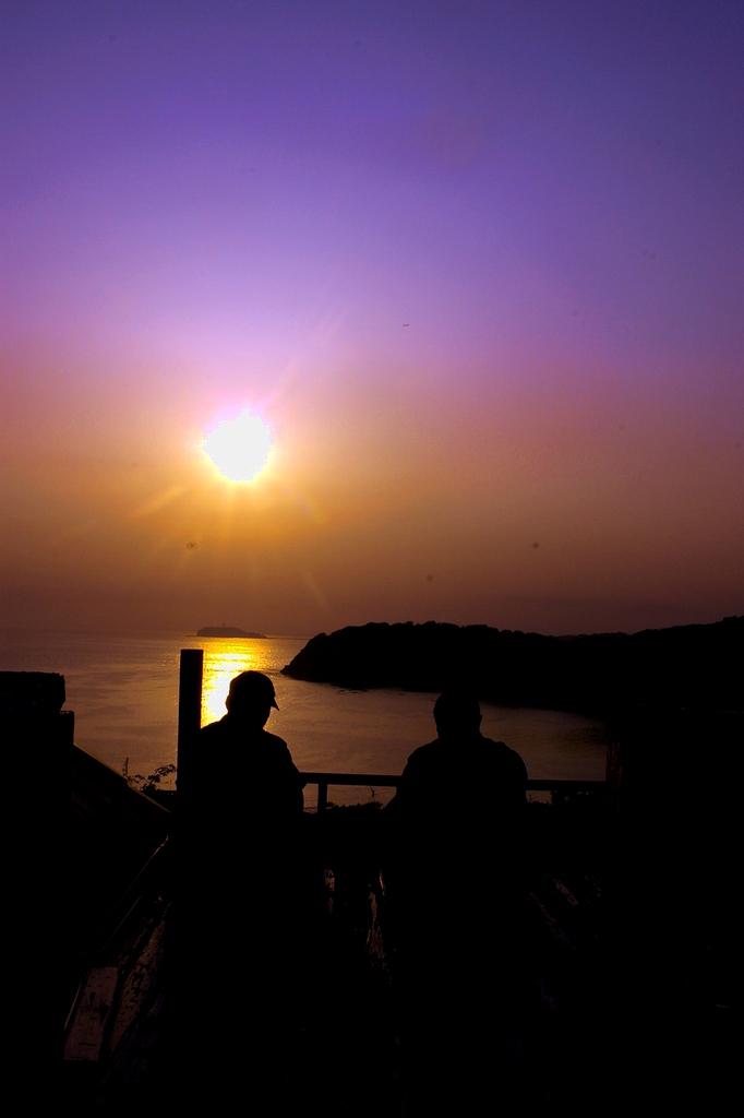つまみの夕日