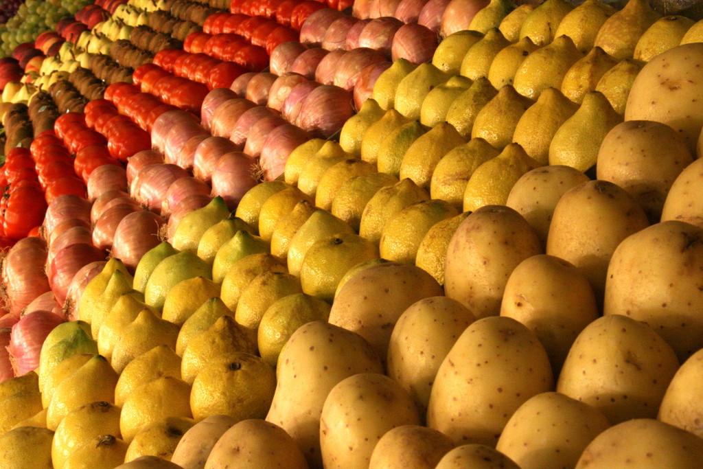 野菜の行列