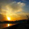 篠島の夕景