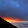 富士山七合目の夕日