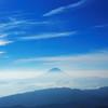 北岳山頂より富士山