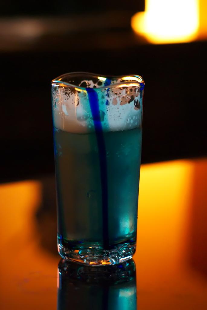 青いビール
