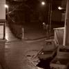雨の夜の小道