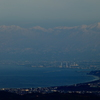 立山連峰と富山湾