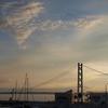 夕暮れの明石大橋