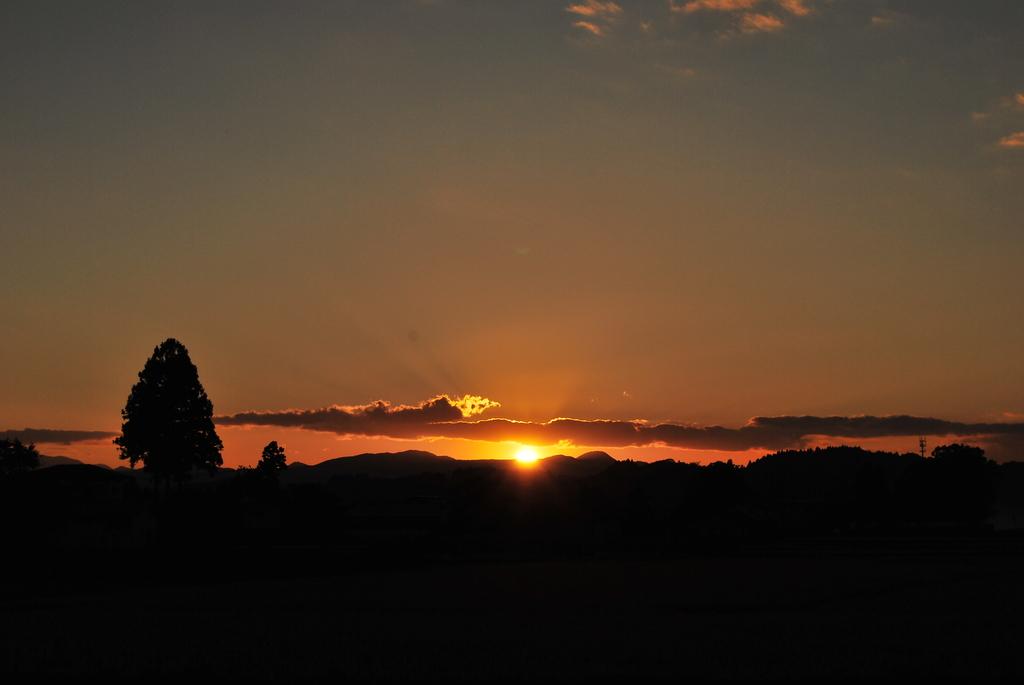 The sunset was splendid