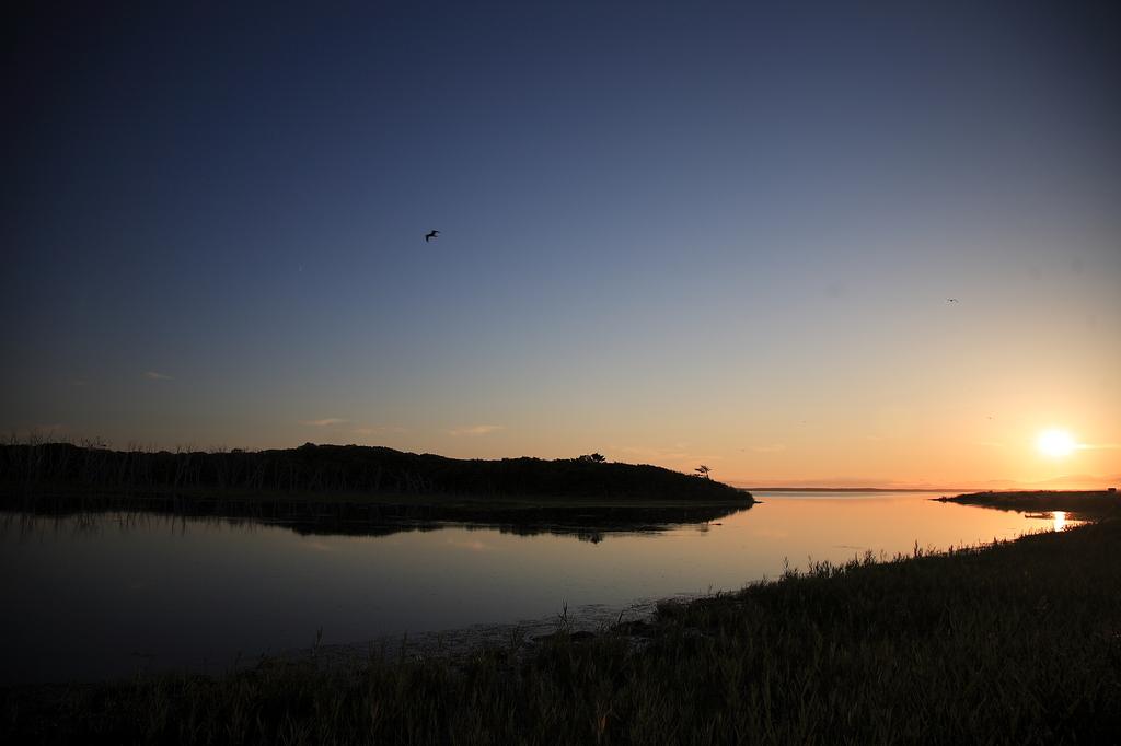 半島の夕景