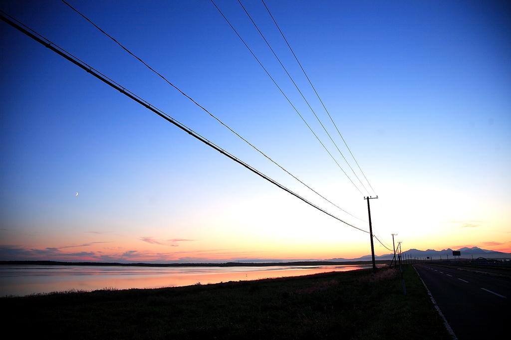 野付半島の夕陽