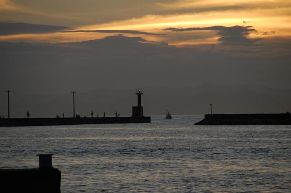 漁港の灯台
