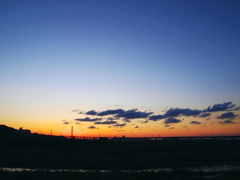 河川敷から見た風景