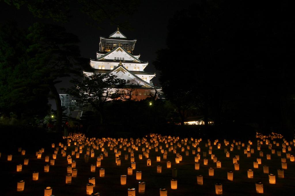 大阪城 城灯りの景