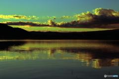 河口湖朝焼け