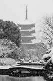 雪ふる五重塔