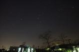 冬の輝く夜空