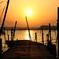 印旛沼・朝景 - 暁光に輝く -