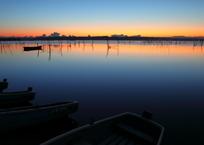 印旛沼・朝景 - 驚歎の彩り -