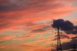 街の情景 - 鉄塔のある夕暮れ -