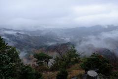 雨の寒霞渓