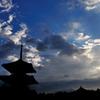 法起寺 夕景