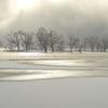 雪の桧原湖②