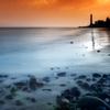 ラスパロマス灯台に続く海岸線