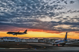 夕暮れ福岡空港