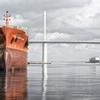 建造船と荒津大橋