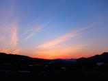 伊香保温泉の夕陽。