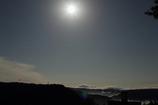 満月と恵那山