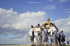 伯耆の国散歩 神輿の海入り7